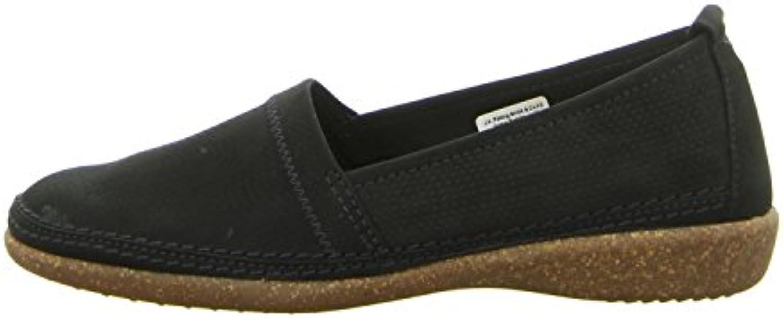 Comfortabel Damen Slipper, Blau, Leder, 941821-5