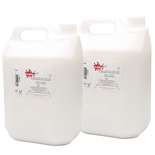 Scola 5ltr lavabile colla vinilica - eco - 5 litri craft colla scuola colla (2-pack)