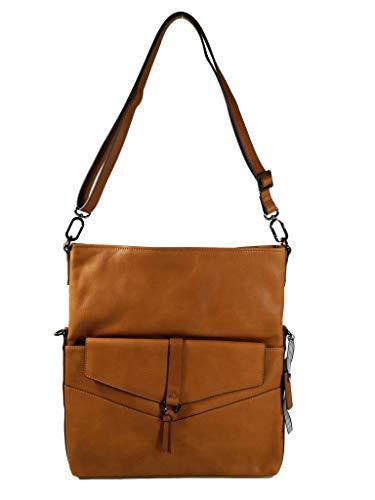 ESPRIT Damen Handtasche Tasche Schultertasche Kara flap shoulderbag Braun