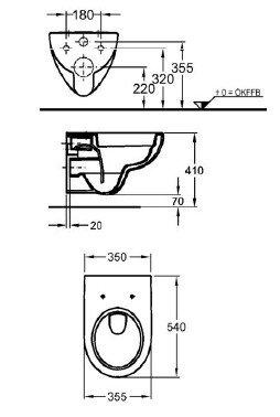 Keramag Renova Nr. 1 rimfree, Spülrandlos,Tiefspül-WC, inkl. Sitz und Beschichtung - 2