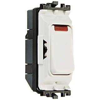 MK Electric Aspect DP-Schaltmodul mit Neon-Anzeige, 20 A