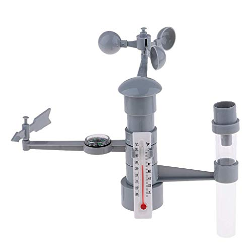 Tubayia DIY Wetterstation Modell Kinder Wissenschaft Pädagogisches Spielzeug Lernspielzeug