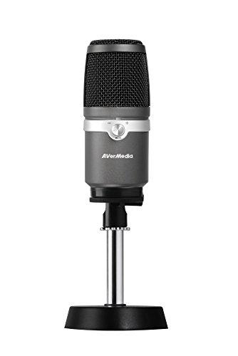 AVerMedia USB Mikrofon AM310 - Hochwertiges Aufnahmemikrofon, Nierencharakteristik, Plug und Play USB Mikrofon, Zero-Latency, PC Audio Wiedergabe, Überwachung in Echtzeit, ideal für Gaming, Podcasting, Streaming auf YouTube und Twitch