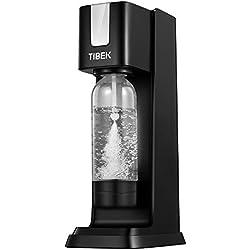 TIBEK Machine à Soda et Eau Pétillante avec Bouteille (sans BPA), pour Accueil/Bureau/Fête, Machine à Gazéifier avec Bouton d'échappement,Aucune Bouteille de Dioxyde de Carbone