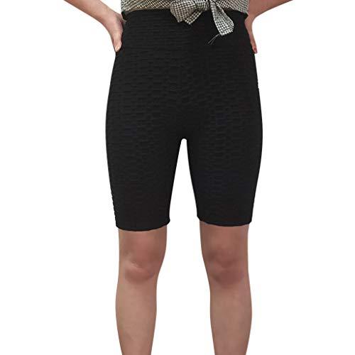 Haludock Frauen-Ineinander greifen-elastische Breathable Feste Yoga-Sport-Hosen-Hüften-hohe Taillen-Faden-Dame Short Pants - Capezio Shorts Frauen