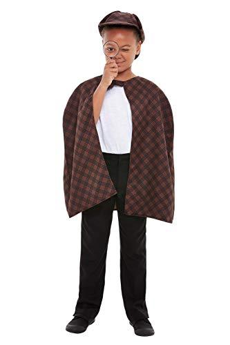 Smiffys 47727ML Detektiv-Set, Unisex, für - Sherlock Holmes Detektiv Kostüm