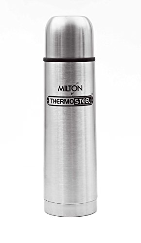 Milton Thermosteel Flip Lid Flask, 500 ml, Silver(EC-TMS-FIS-0056_STEEL)