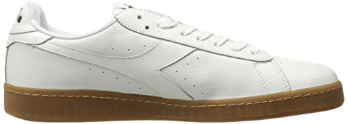 Diadora Game L High Waxed, Pompes à Plateforme Plate Mixte Adulte Blanc