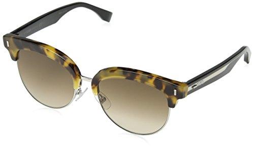 Fendi ff 0154/s jd uds, occhiali da sole donna, nero (lthvna black/brown sf), 54