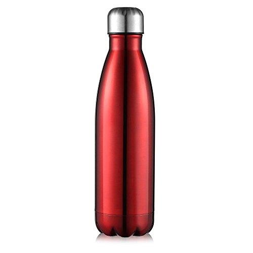 AuPower 500 ml botella acero inoxidable agua botella aislante