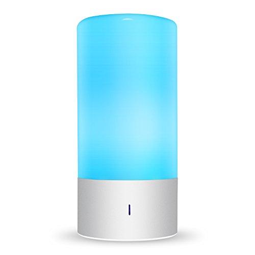 Amzdeal LED Tischlampen 6W dimmbare Nachttischlampe mit 7 Farbwechsel und 3 Hellig...