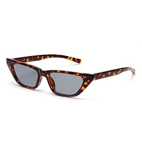 AAMOUSE Nette kleine Cat EyeRetro Sonnenbrille Frauenentwerfen Schwarze Leopard Vintage Sonnenbrillen, Gläser