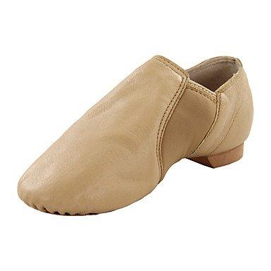 Silence @ enfants Chaussures de danse en similicuir en similicuir Bottes de danse de jazz/appartements Talon Plat Professional/intérieur noir/marron marron