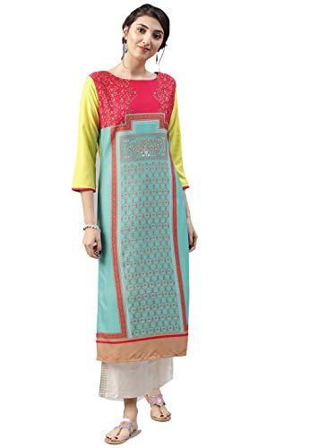 Vaamsi Women's A-Line Kurta (VPK1495_S_Blue_small)