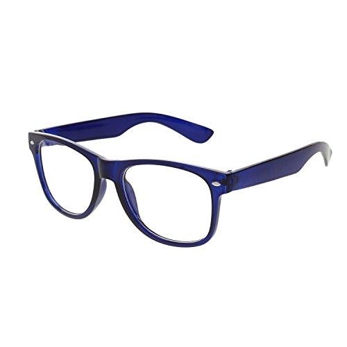 Vast UV Protected Wayfarer Unisex Sunglasses (CR39_ARC_WAYFARER_CLEAR_BLUE 52 Transparent)