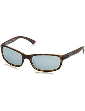 Ray-Ban Junior Gafas de sol envolventes en la Habana mate Gris espejo RJ9056S 702730 50