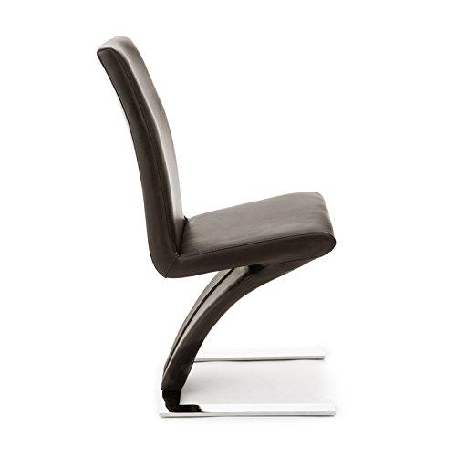 designement Anaîs Chaise Design Acier Choco 43 x 60 x 95 cm
