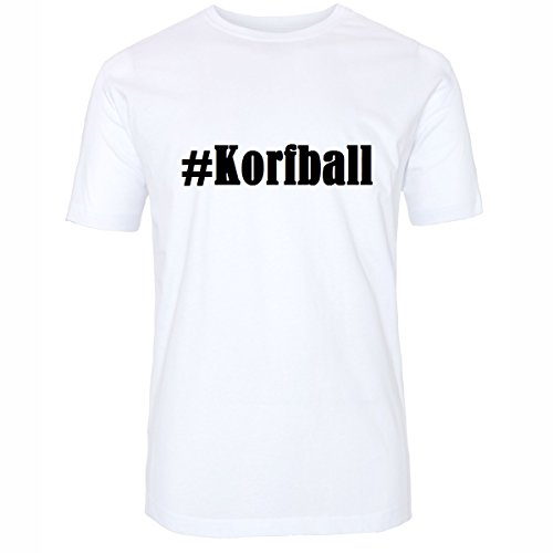 T-Shirt #Korfball Hashtag Raute für Damen Herren und Kinder ... in den Farben Schwarz und Weiss Weiß