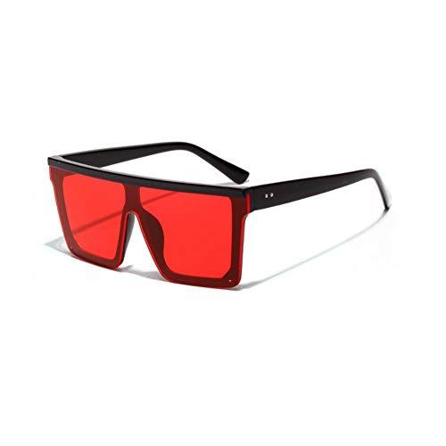 SYQA Übergroße futuristische Sonnenbrille Frauen große quadratische Sonnenbrille Männer transparenter Rahmen Retro Coole Schwarze Sonnenbrille weiblich männlich,C2