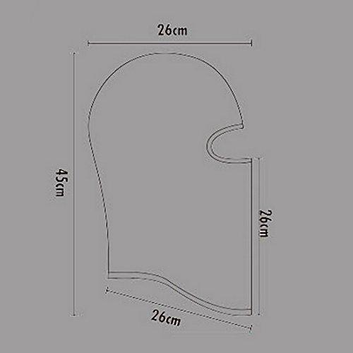 Panegy Multi-Usages Bonnet Cagoule 1 Trou en Lycra Masque pour Visage UV Protection Equipement d'Amateurs Militaires Balaclava Sport d'Exterieur Pêche Ski Montagne-5 Couleur Optique Vert