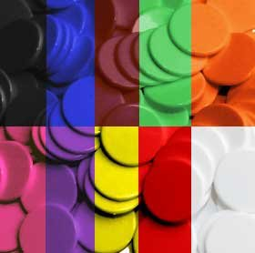The Dice Place Counters - 22mm diameter plastic x 100 by The Dice Place
