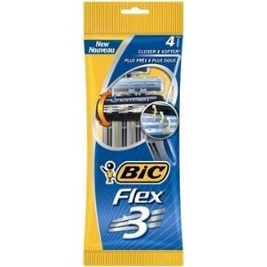 Bic - Disposable razors flex 3 triple blade shaver 4 pack
