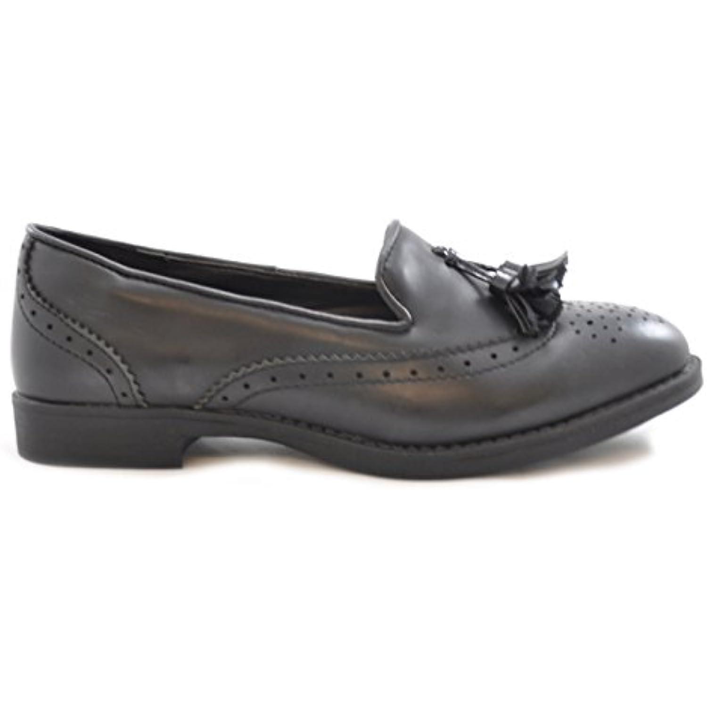 Spot On Femmes Talon bas de Plat richelieu vintage Tassel Chaussures de bas  - B00XK8ZRBG - d15ab5 e20fa5a53c6b