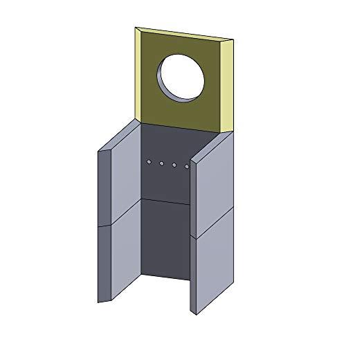 Flamado Rückwandstein Oben 250x230x25mm (Schamotte)