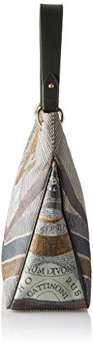 Gattinoni Gplb022, Borsa a Spalla Donna, 13x33x38 cm (W x H x L) Verde (Balsam)