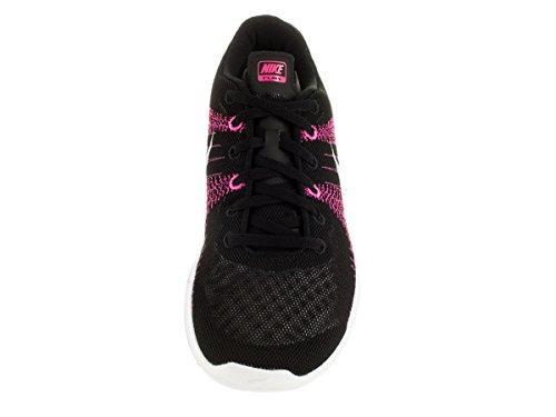 Flex Fury Running Shoe Black/White/Pink Foil/Sprt Fchs