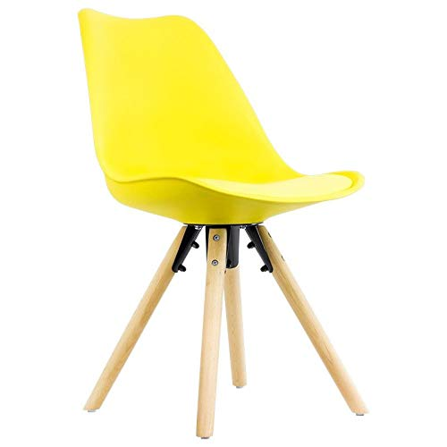 Sillas de comedor amarillas estilo Eames
