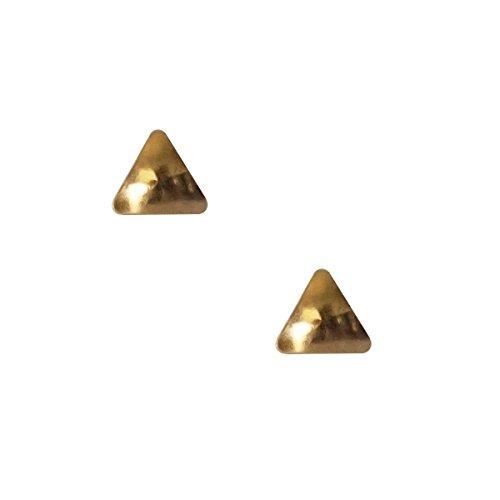 Erstohrstecker Chirurgenstahl vergoldet Sterile Ohrstecker Ohrringe mit Dreieck 4mm - Sterile Ohrringe
