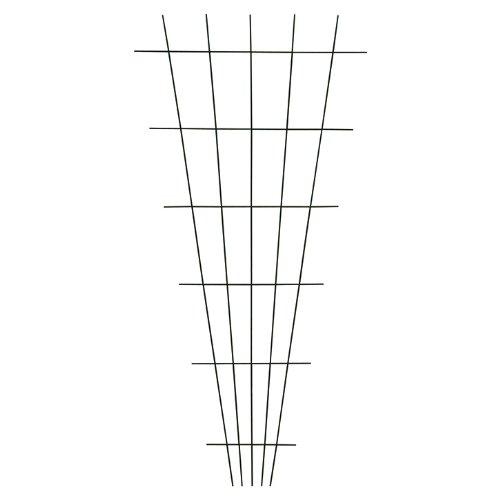Xclou Gitterspalier V-Form in Braun, wetterfestes Metallspalier kunststoffbeschichtet, Rankgitter gesintert, Drahtgitter inklusive Dübel und Schrauben, Maße: ca. B 10 - 75 cm x H 150 cm