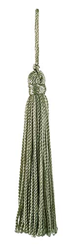 Set von 10Pale Jade Chainette Quaste, 10,2cm lang mit 2,5cm Loop, Basic Rand Collection Stil # RT04Farbe: Pale Jade Grün-G12 -