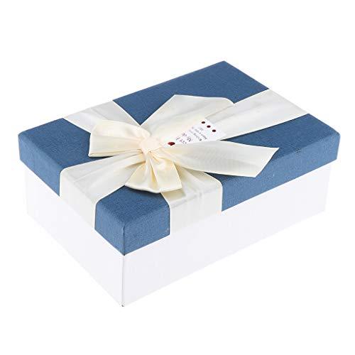 B Baosity Rechteckige Geschenkkartons Geschenkbox, Größe: ca. 18x12x6,6 cm - Blau