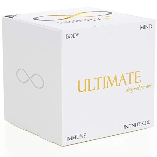 Ultimate White - Testosteron-Neuro-Immun Support - 2x 30 Einzelportionen | Hochdosiert | 2x 210 Kapseln | Laborgeprüft | Made in Germany | INFINITY X