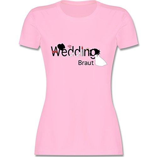 JGA Junggesellinnenabschied - Wedding Braut - tailliertes Premium T-Shirt mit Rundhalsausschnitt für Damen Rosa