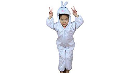 Bambini costumi animali ragazzi ragazze unisex pigiama fancy dress outfit cosplay bambini onesies (coniglio, l (per bambini 105 - 120 cm di altezza))