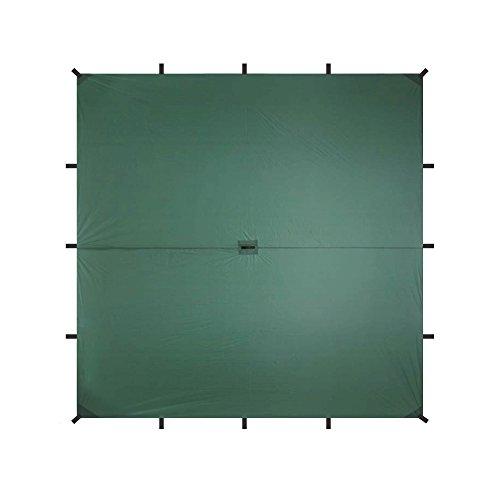 Aqua Quest Guide SIL Tarp - 100% Wasserdicht - 3 x 3 m Quadratisch/Square - Olivgrün/Grün/Zubehör Kit (Grün)