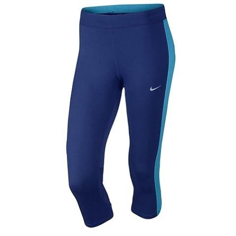 Nike Dri-Fit Essential–Corsaire leggings pour femme, femme, Deep Royal Blue/blue lagoon/blue lagoon/silver