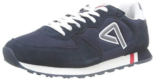 Pepe Jeans London Herren KLEIN Archive Washed Sneaker, Blau (Navy 595), 45 EU