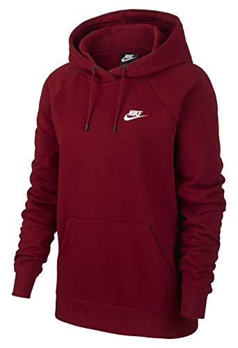 Nike Damen W NSW Essntl Hoodie Po FLC Sweatshirt, Rot (Team Red)/Weiß, XS