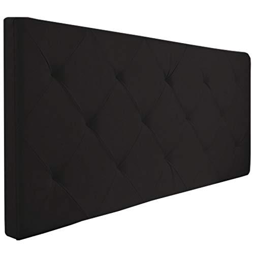 Probache - Tête de lit capitonnée PVC Noir 160x58 cm