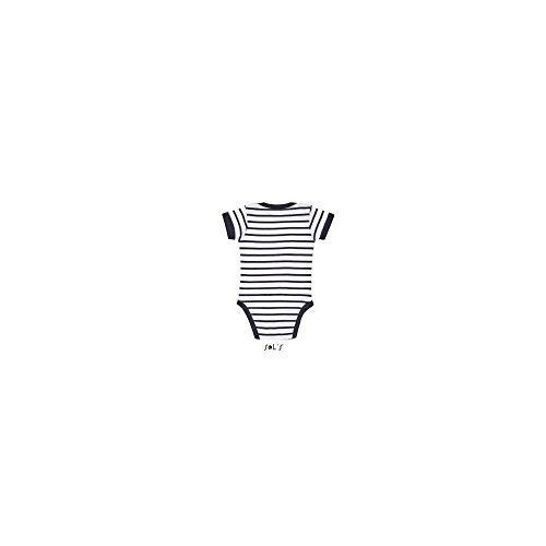 Sols - Maglietta sportiva -  uomo Bianco/Navy