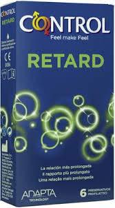 Control Retard - 6 Kondome mit Benzokain für längere Liebe