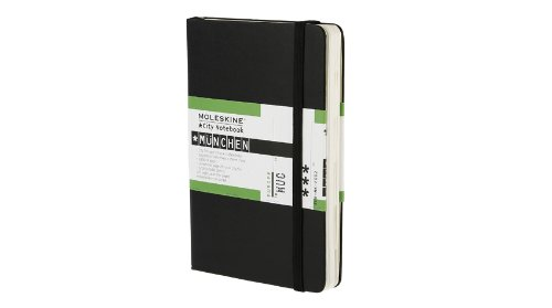 Moleskine City Notebook MUNICH Couverture rigide noire 9 x 14 cm