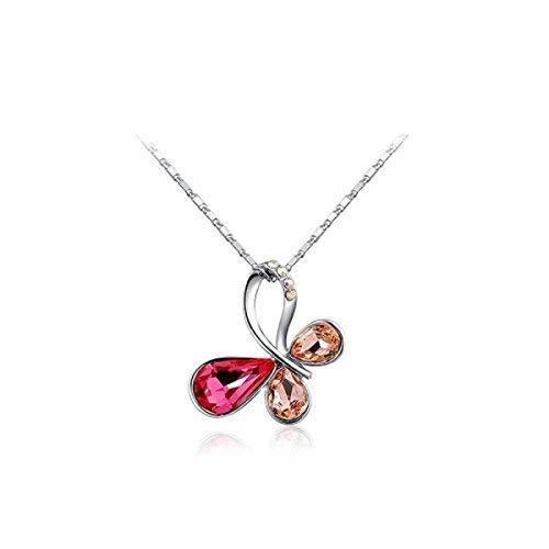 Schmuck Damen Halskette Schmetterling mit Zirkonia Kettenlänge 46cm Kristalle von Mikael Zere -