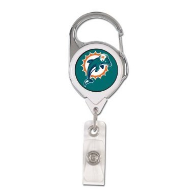 NFL Miami Dolphins Retractable Premium Badge Holder, Team Farbe, eine Größe