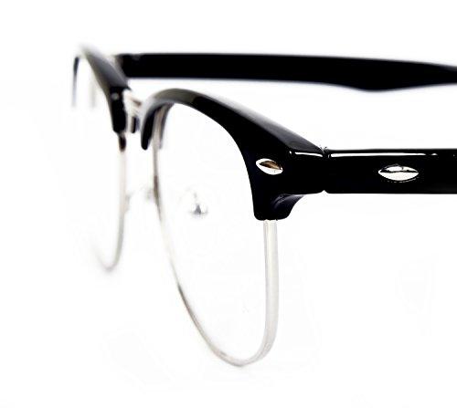 FreshGadgetz 1 Set di Occhiali adulti nero-fumo, retro, unisex, taglia unica
