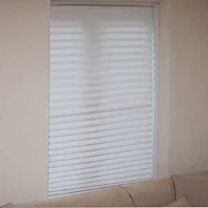 Set of 3 White Blinds in a Box. Instant Blackout Blinds that require no fixings